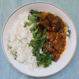 Eggplant chickpea curry