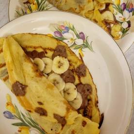 Chocolate banana crepe