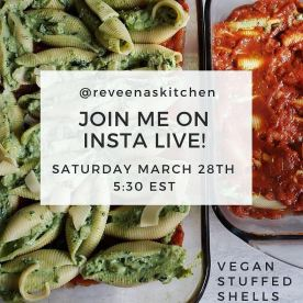 Stuffed shells insta live