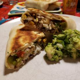 Homemade burritos (and tortillas)