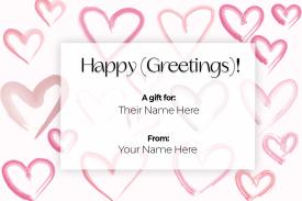 Gift Certificate Vday