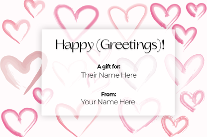 Gift Certificate Vday